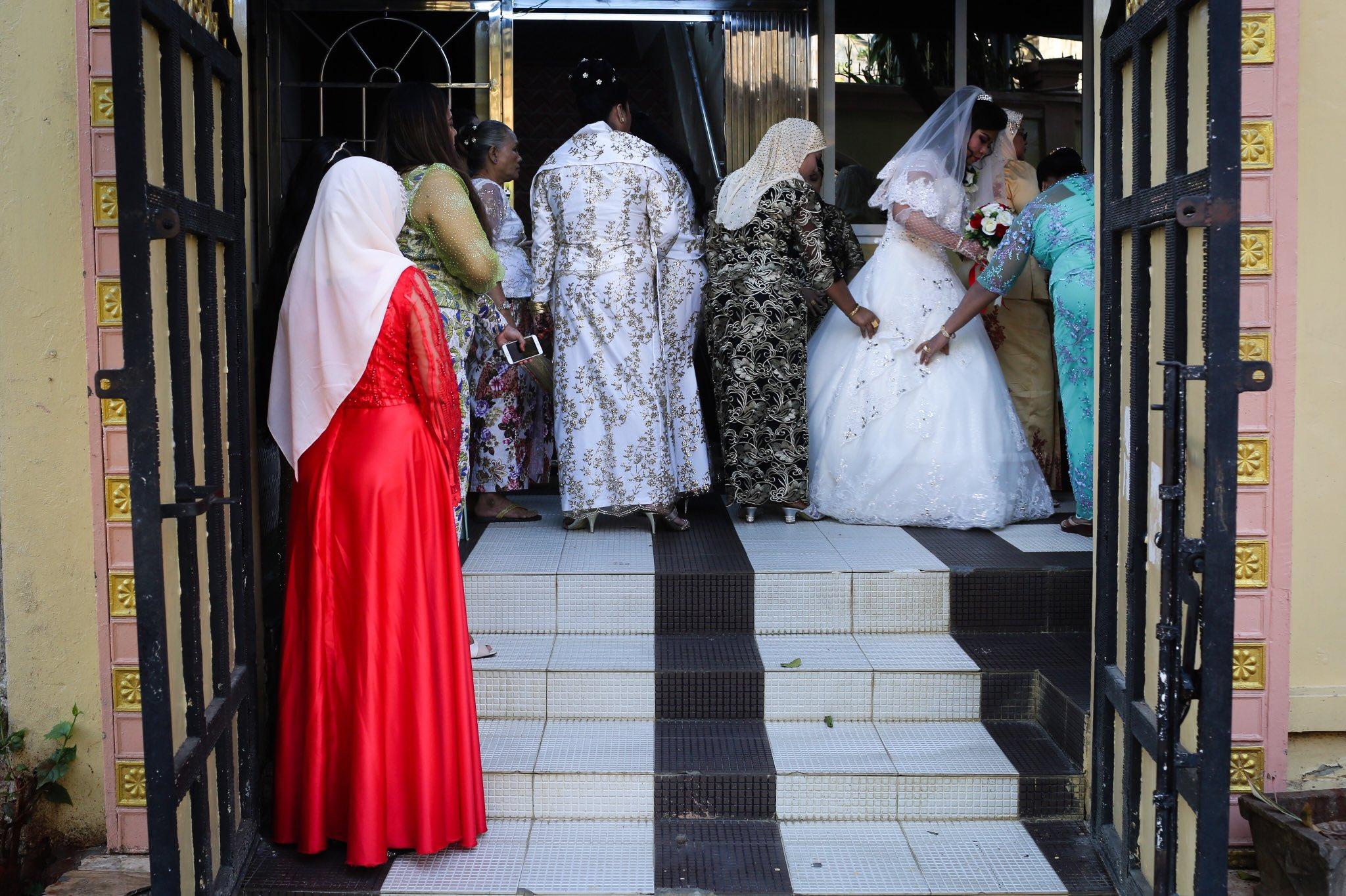 A Muslim wedding at Yangon's Islamic Center. Burma.