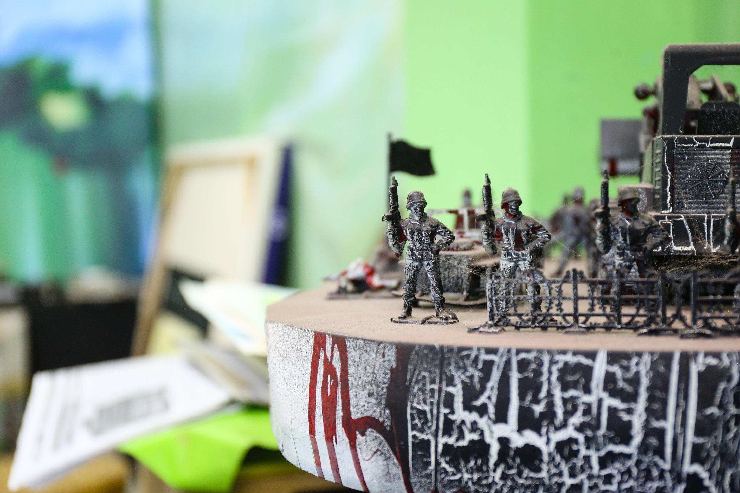 Work seen in the studio of Myanmar artist Nyein Chan Su. Yangon, Myanmar.