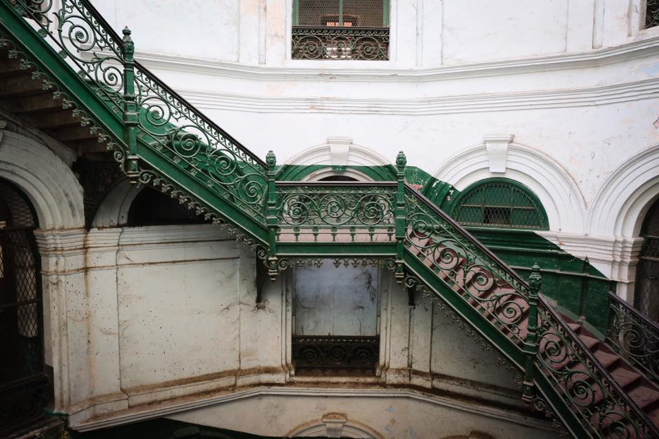 A staircase at the Secretatiat.