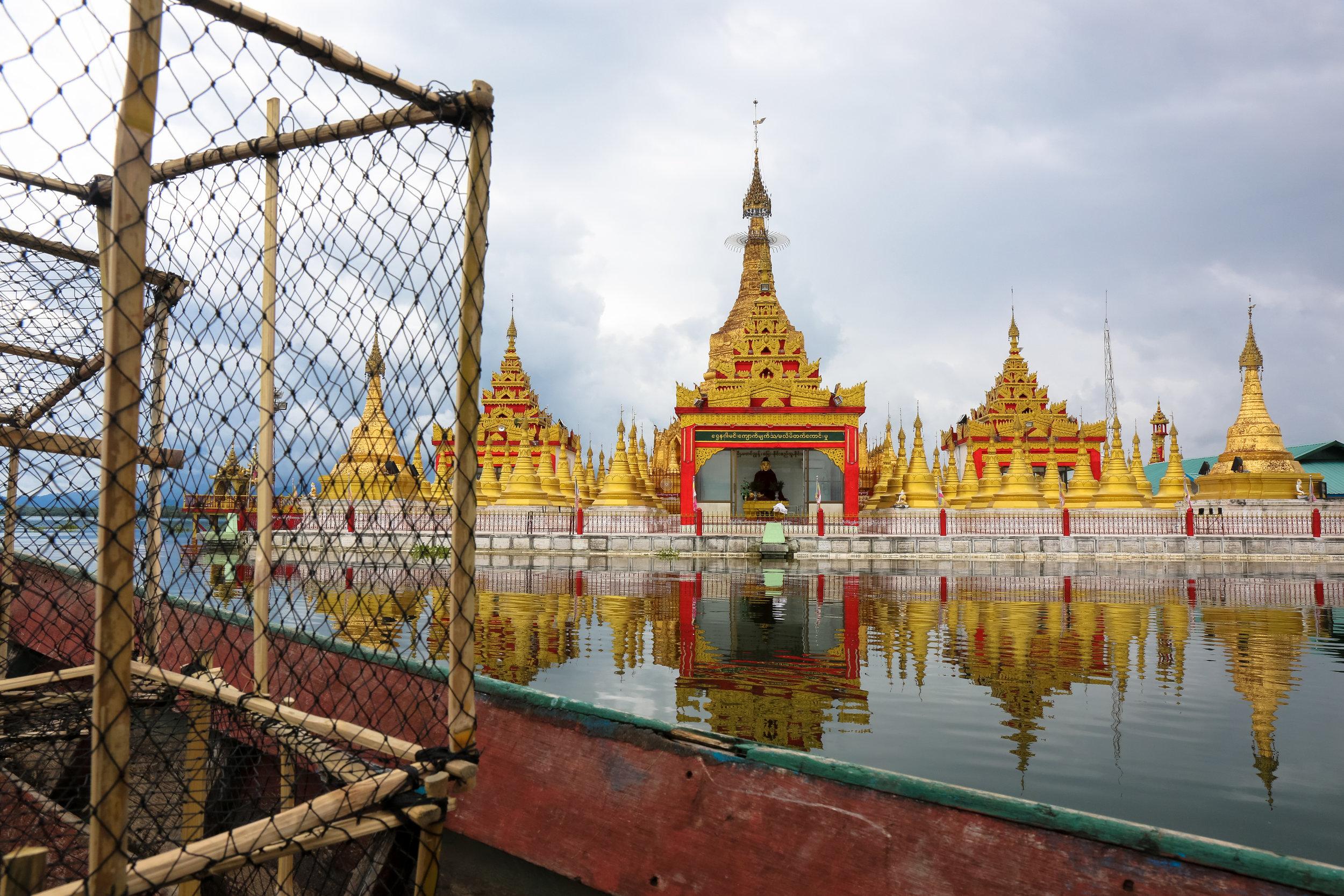 Shwe Myitzu Pagoda. Indawgyi Lake. August 2017