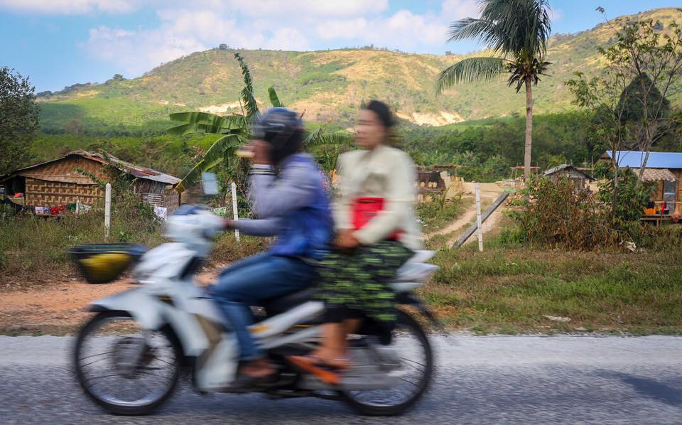 I spent about five hours on the back of a motorbike, riding through Tanintharyi Region in southern Myanmar. Feb 2018
