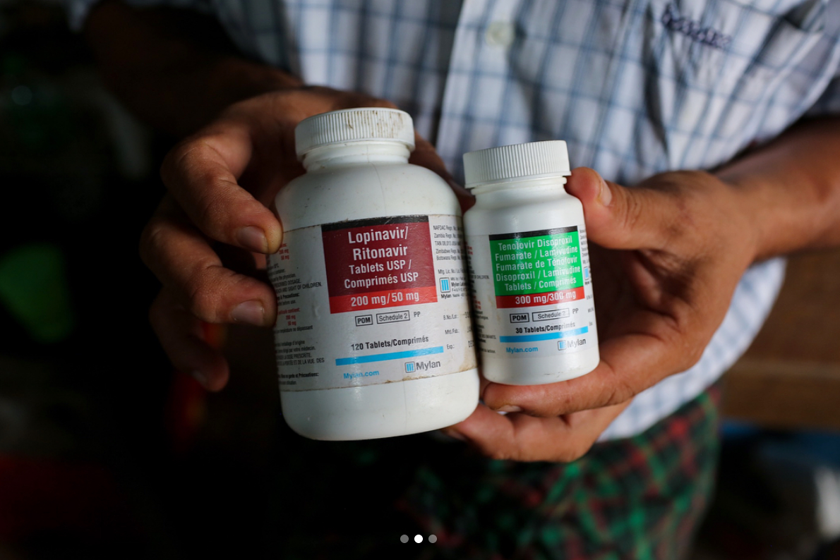 HIV/AIDS medicine provided for free to patients. June, 2018