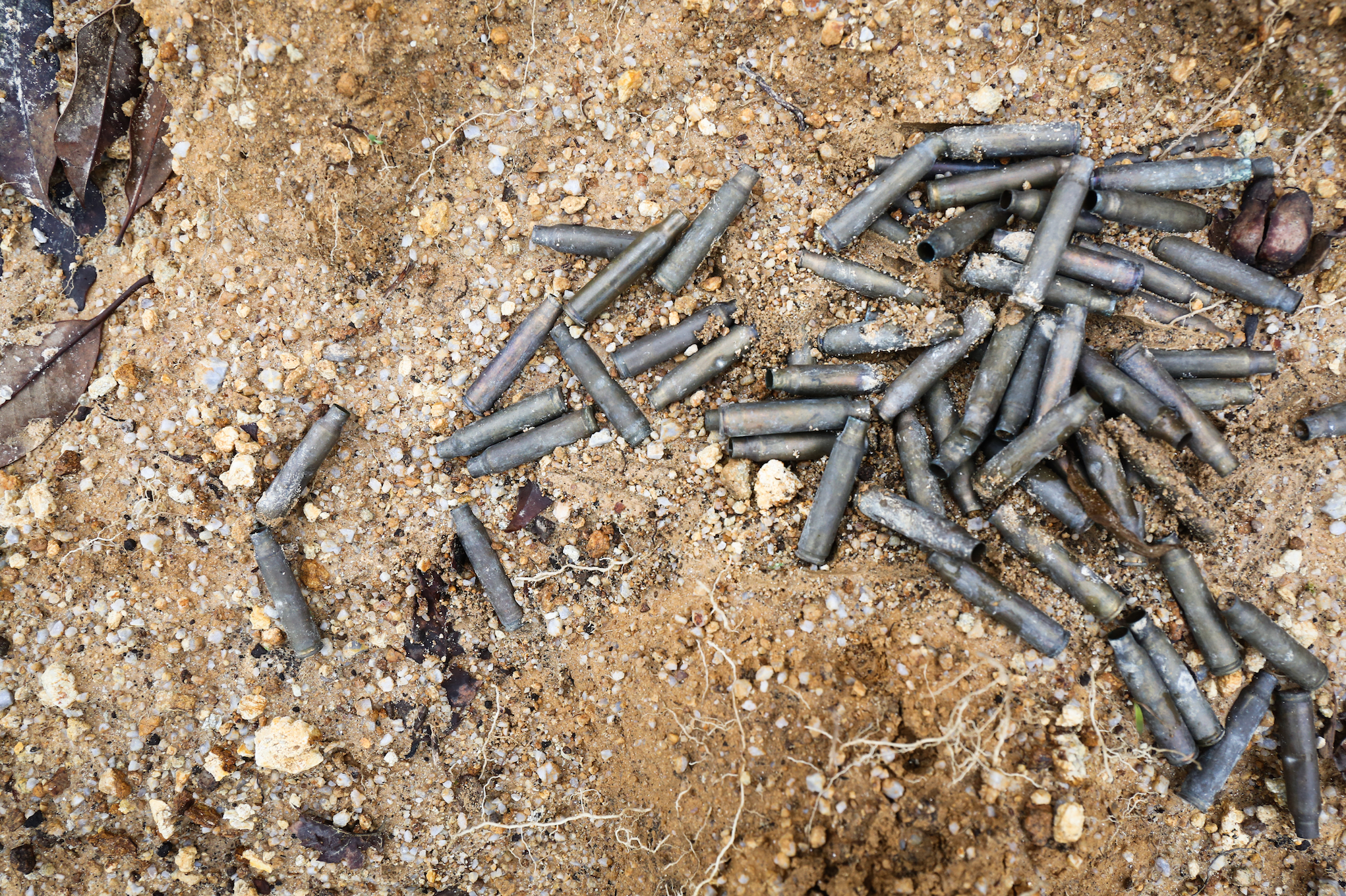 Bullets found at the scene of the attack. Markings on the back of the bullets led some human rights experts to believe they were produced at a Burmese military facility. August 2018.