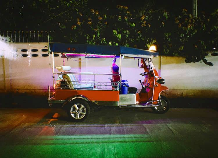 A night tuk-tuk in Chiang Mai, Thailand. December 2018