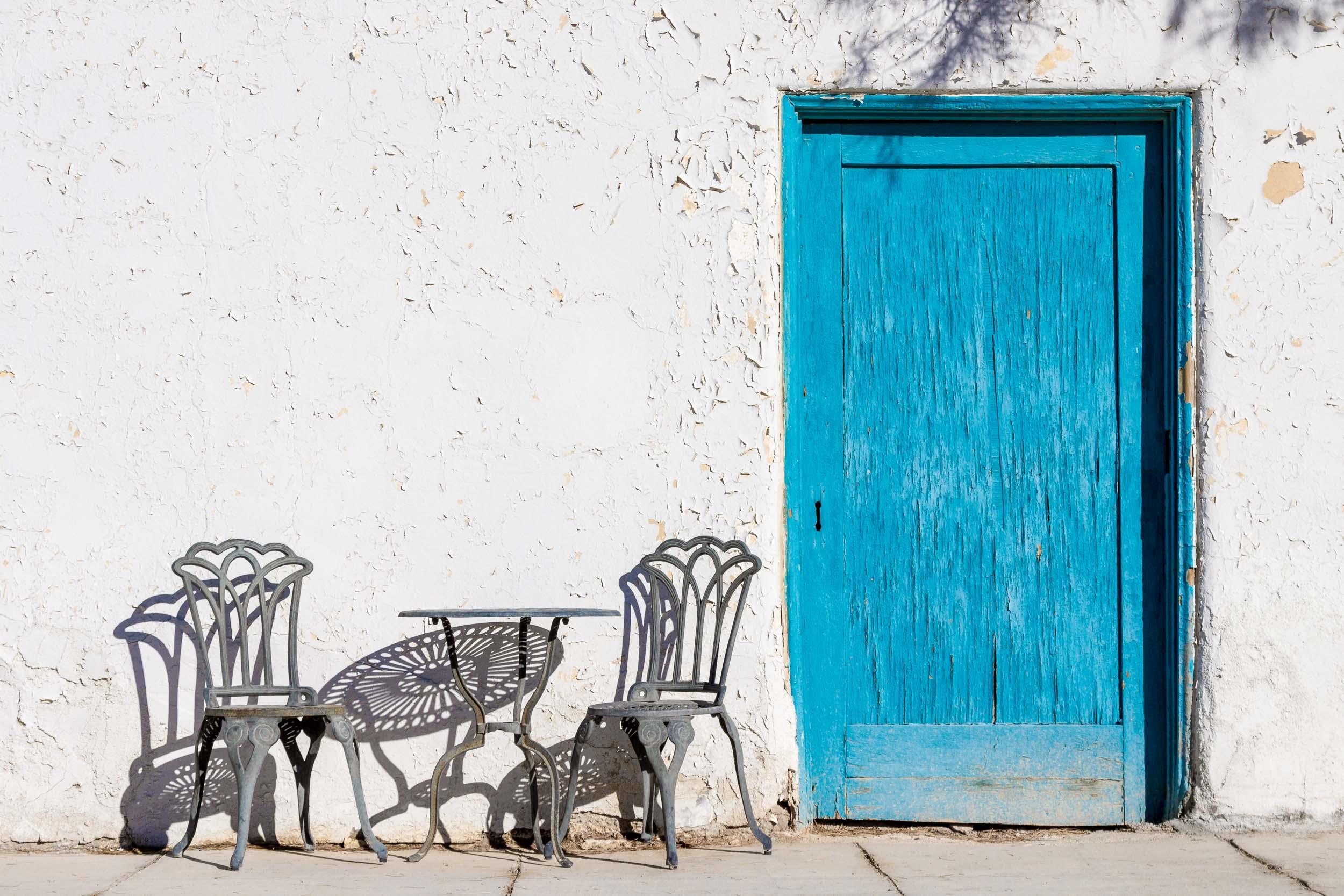 """""""Blue Door"""", Death Valley Junction, CA"""