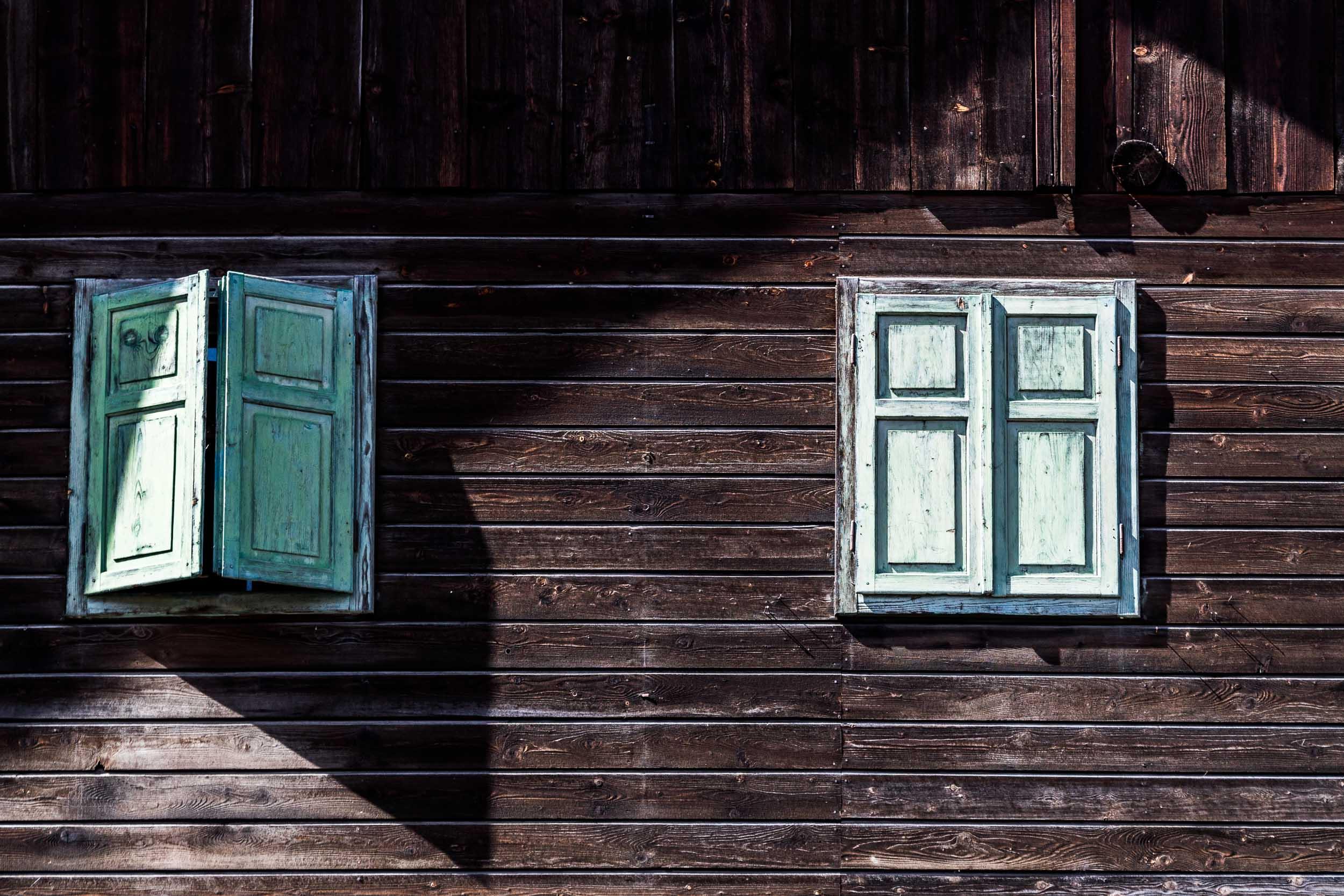 """Barn Windows"", Dolomites"