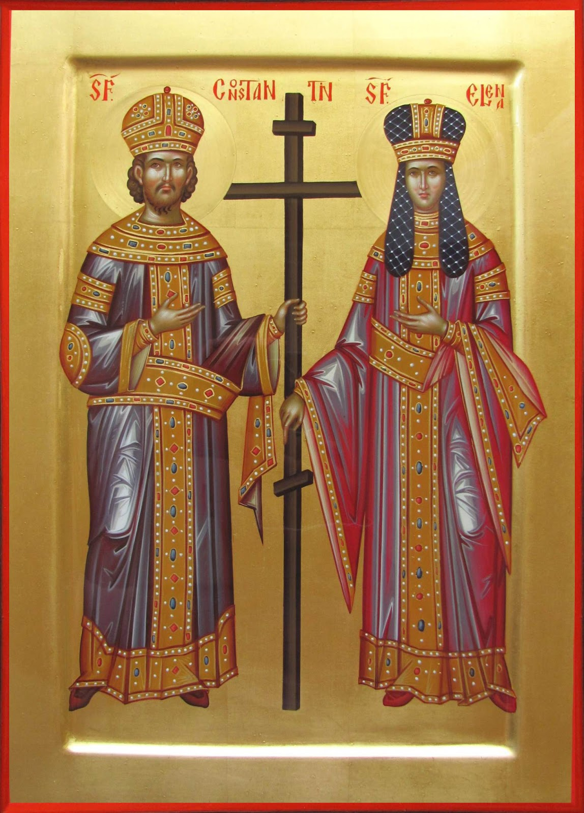 Holy God Crowned Sovereigns and Equal to the Apostles, Constantine and Helen pray to God for us!