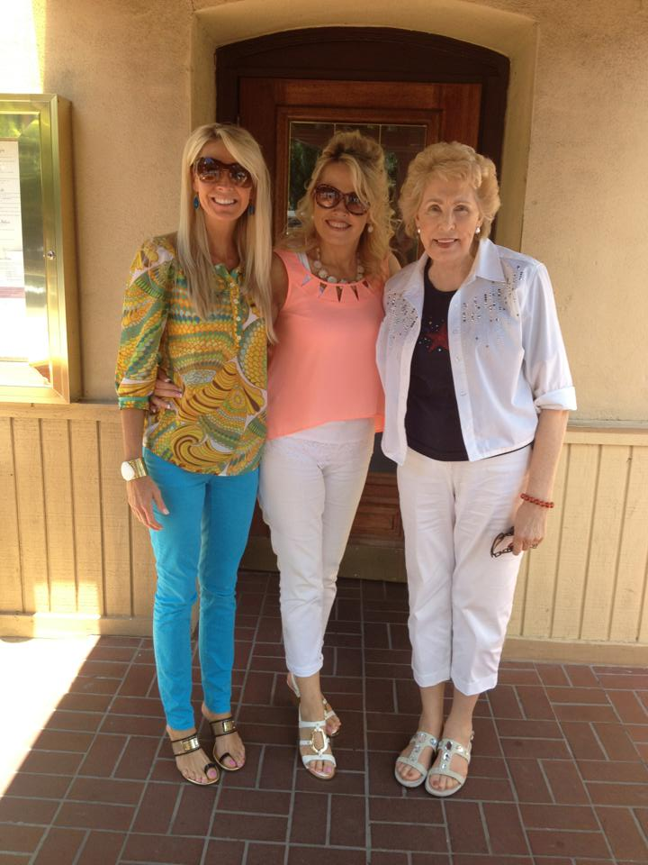 my mom in the middle and her sister and gorgeous mama too.