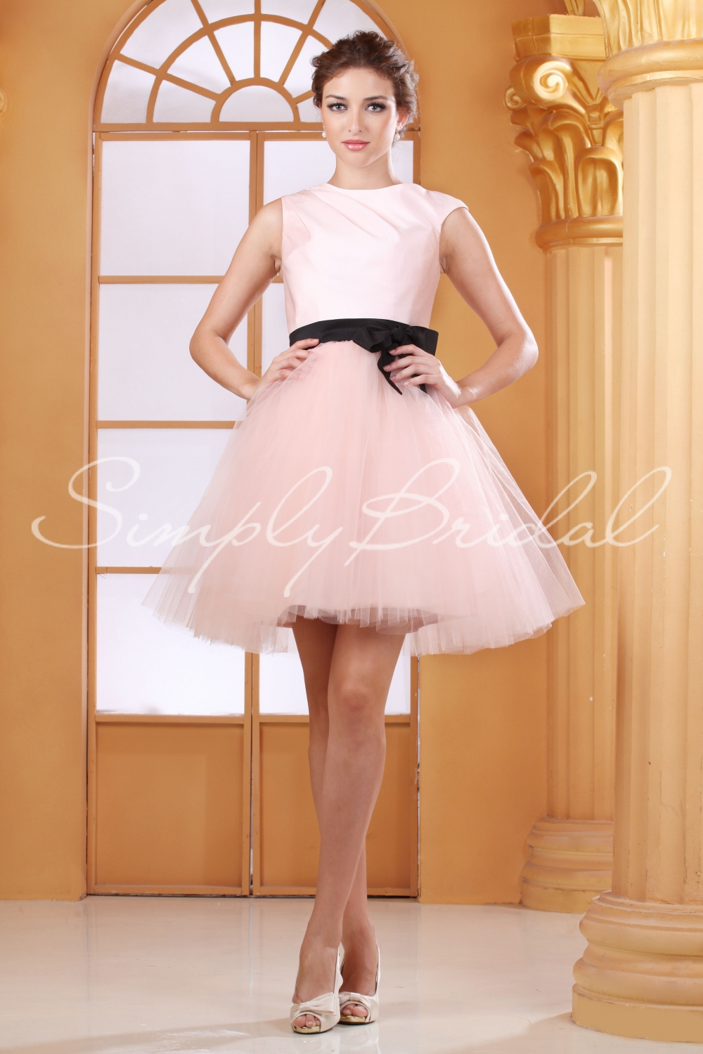 simply-bridal-pink-short-wedding-dress