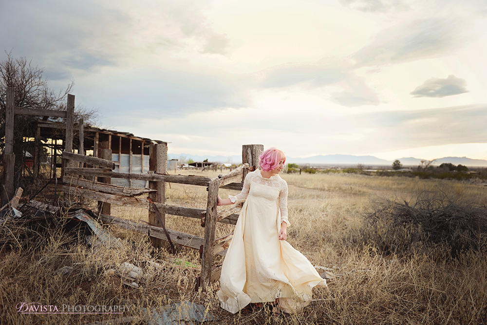 rustic-country-wedding-dress-styled-shoot-pink-hair-vintage
