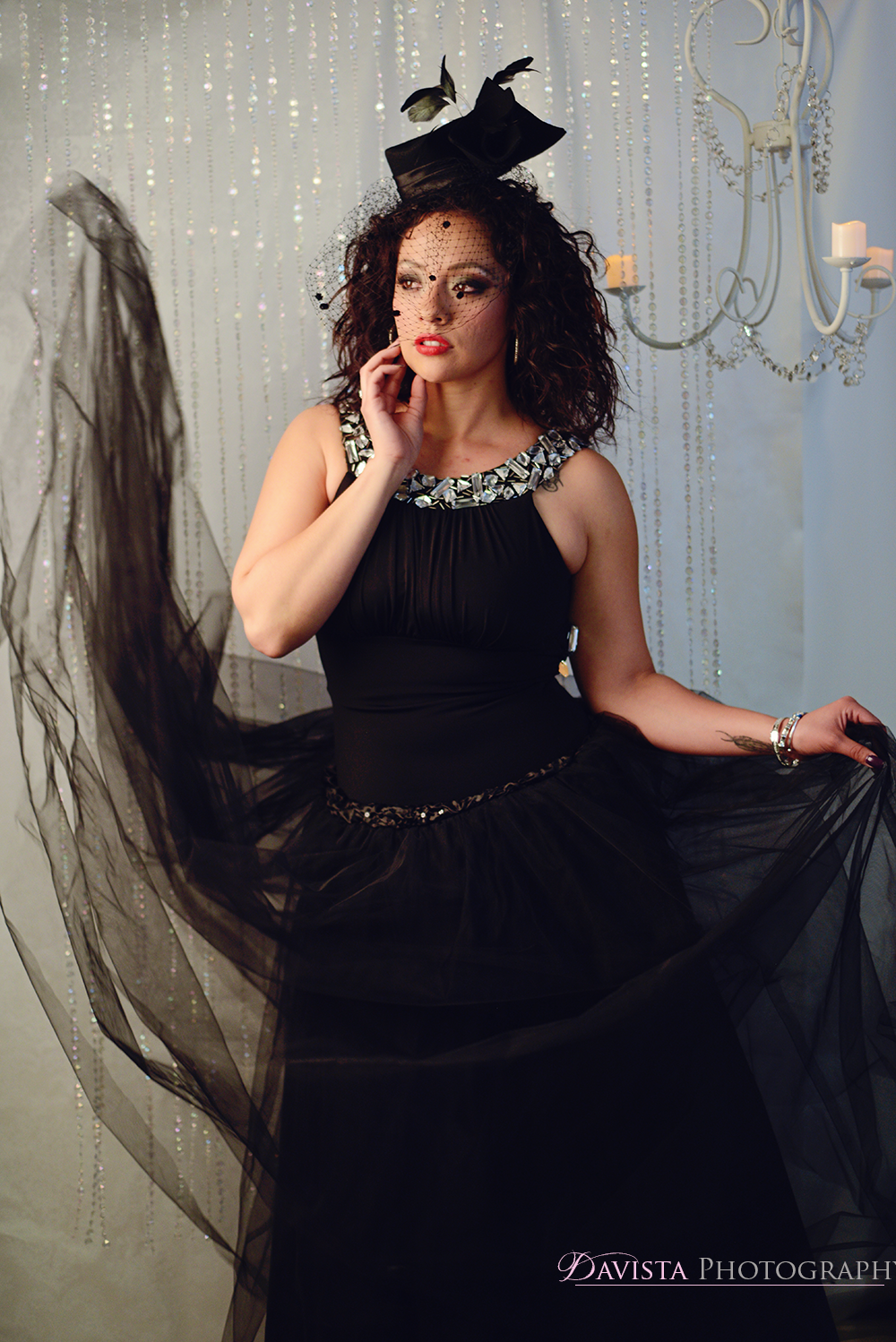 birdcage-hat-styled-shoot-victorian-tulle-skirt-portraits