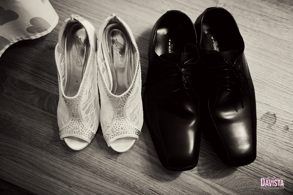 bride and grooms shoes together