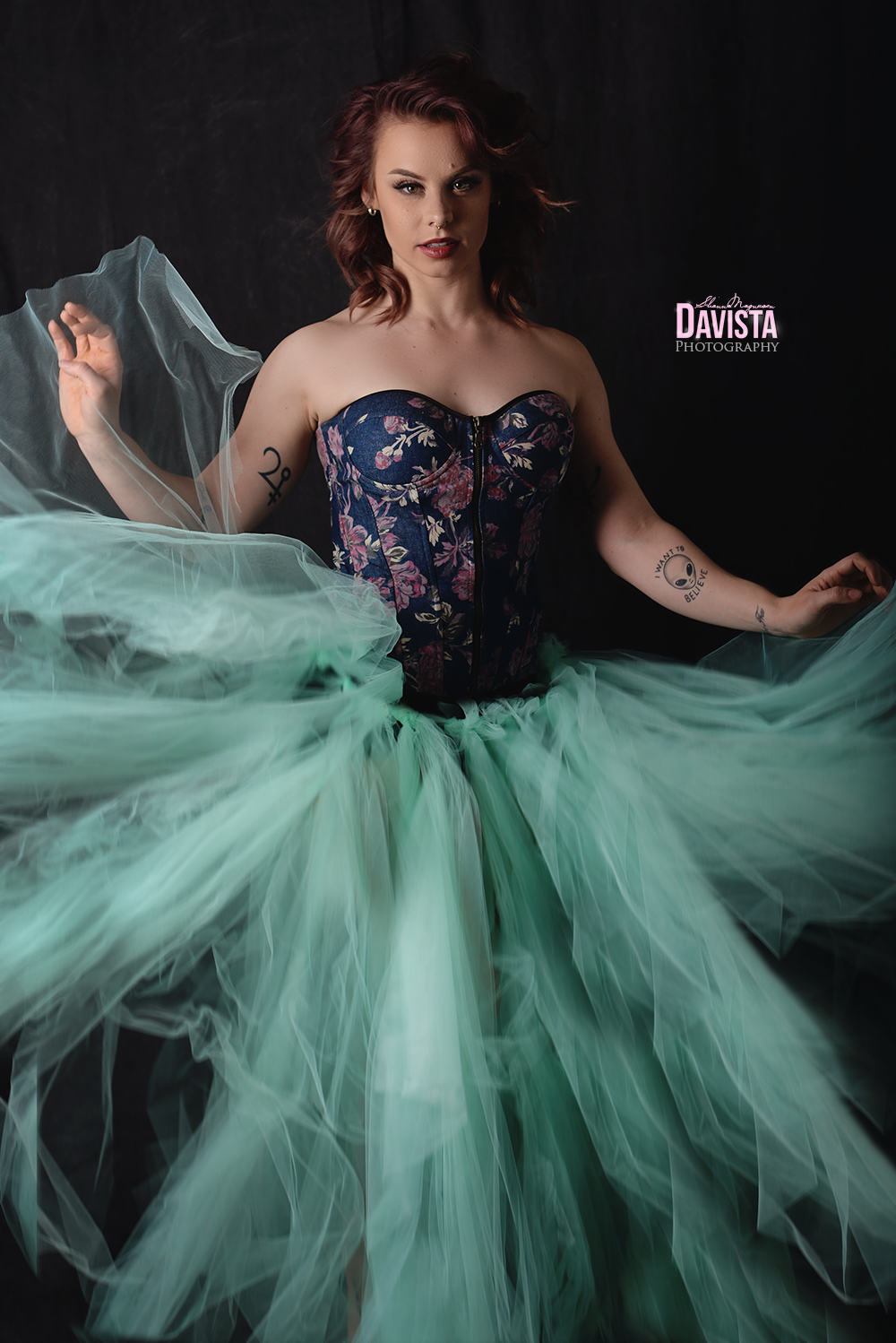 mint tulle skirt homemade glamour photography