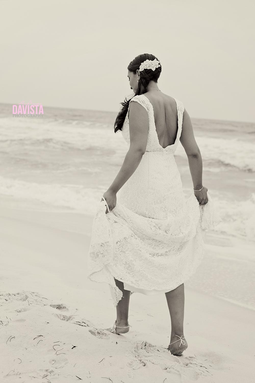beautiful dress on the beach