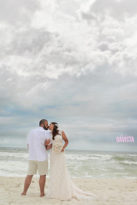 cloudy overcast wedding day navarre beach