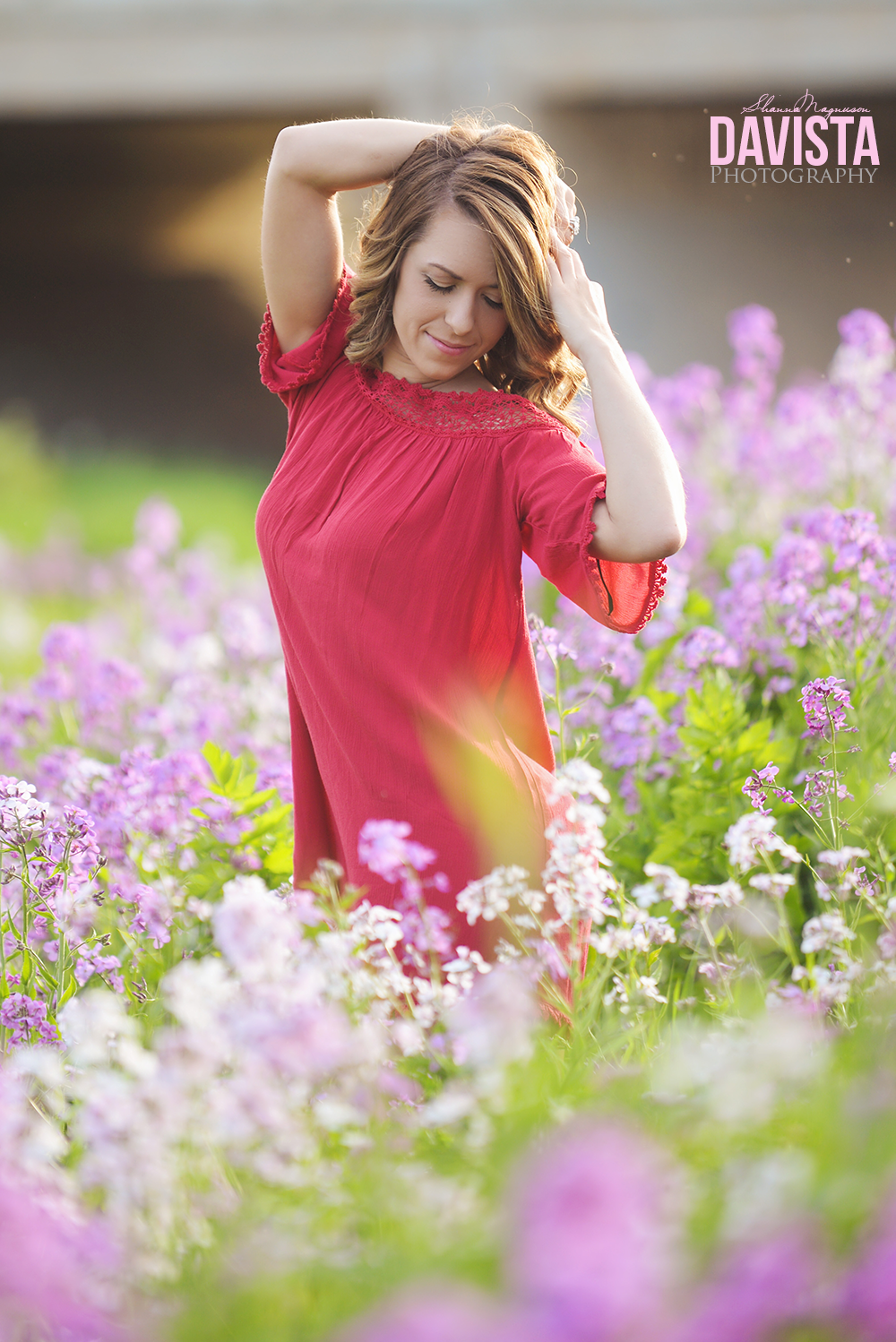 images and poses for girls flower field