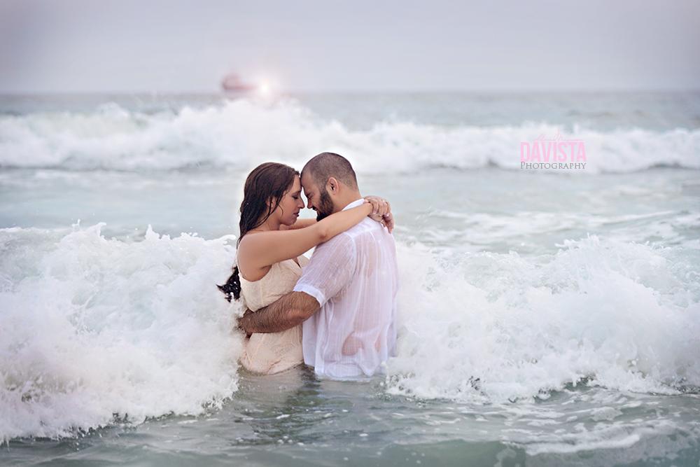 Navarre Beach Florida in the ocean trash the dress