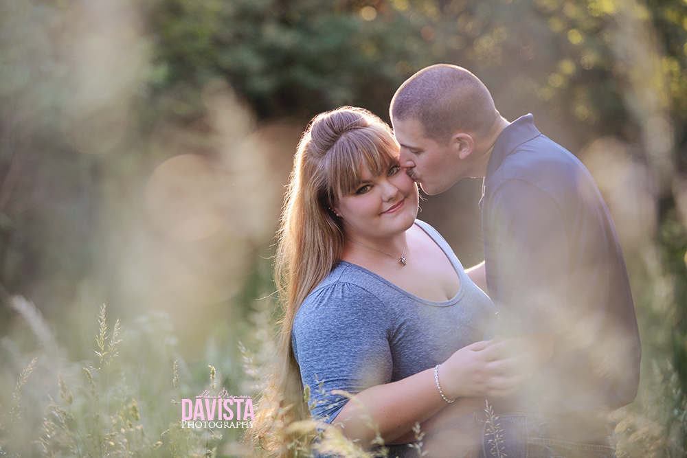 gorgeous portraits in the forest engaged