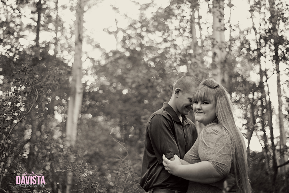 cute couple in the woods engagement