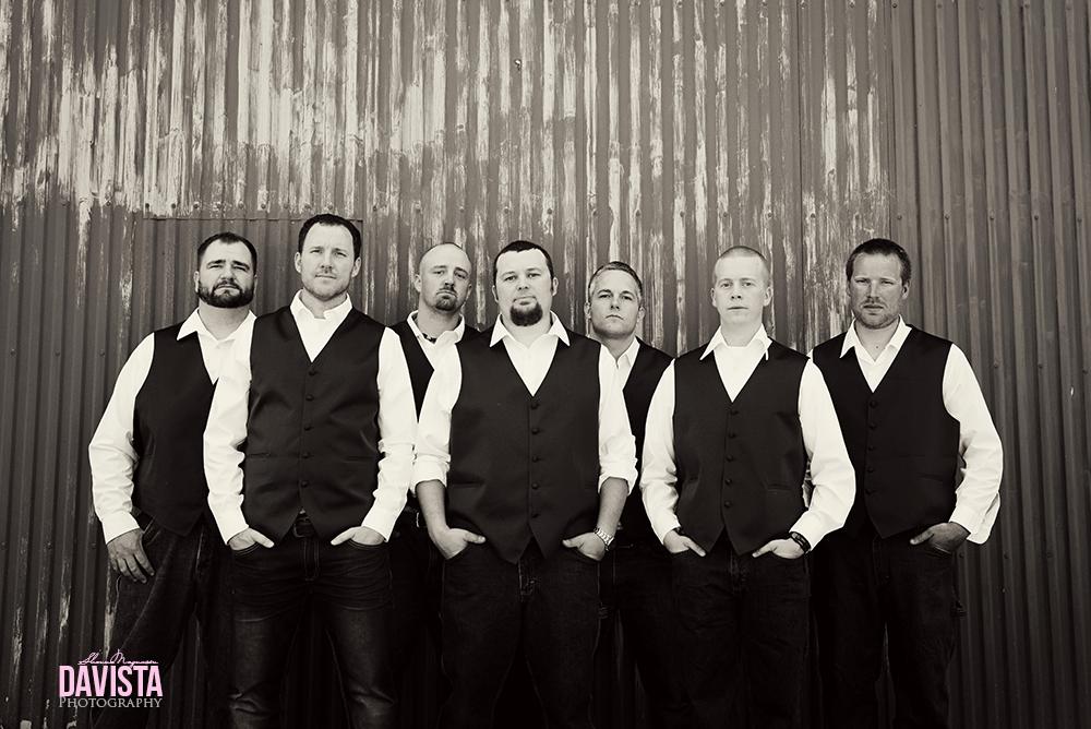 groomsmen black and white photographs