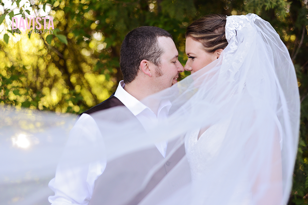 using the bridal veil for photos