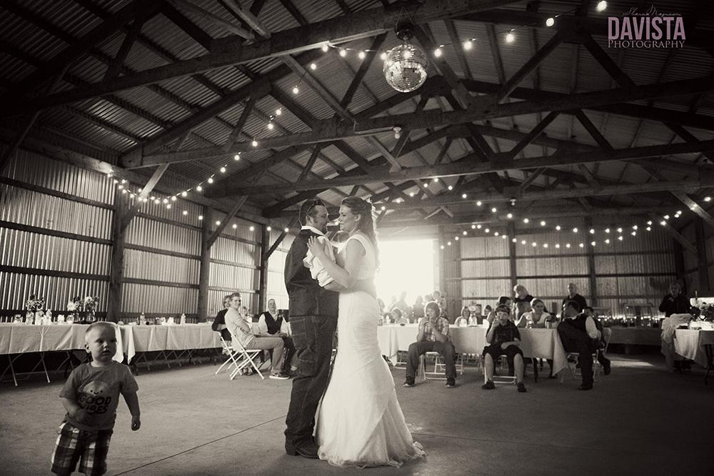farm wedding reception dance
