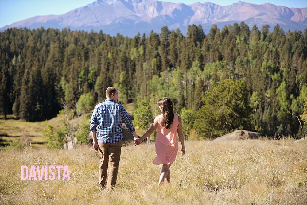 colorado springs engagement session with pikes peak