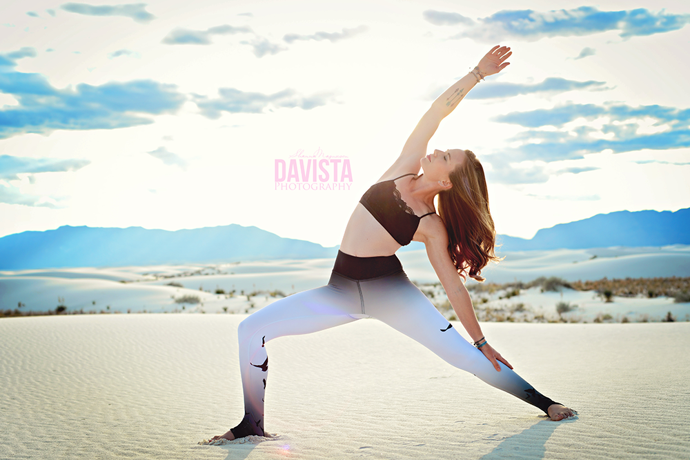 White Sands New Mexico Yoga Photoshoot Tiffany Davista Photography