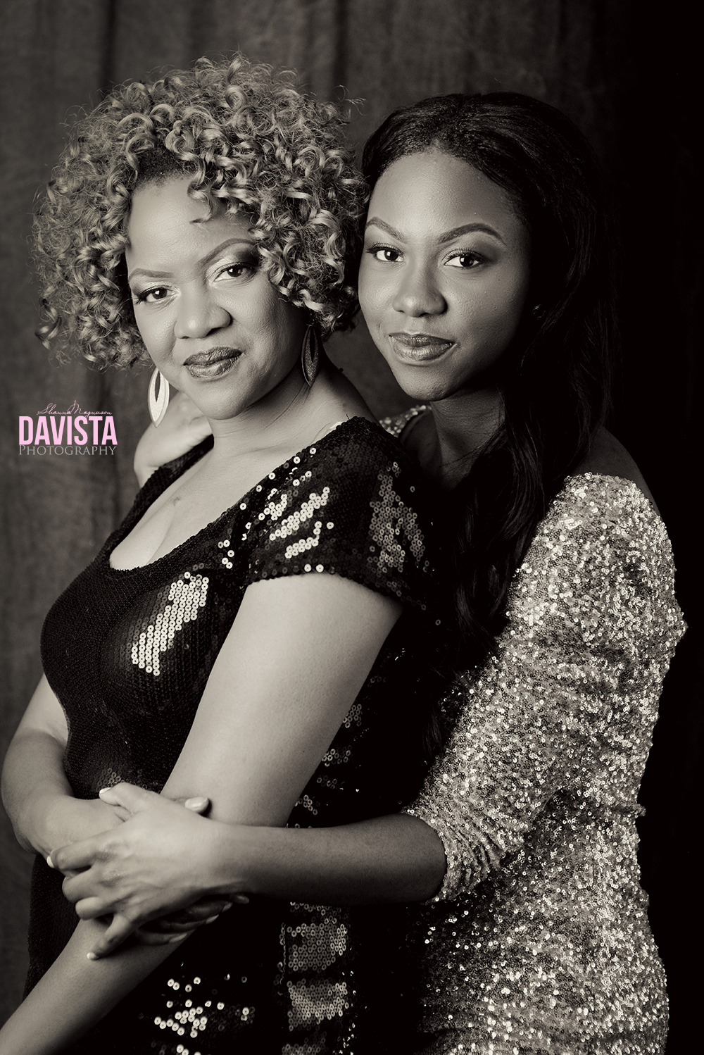 beautiful mother and daughter portraits