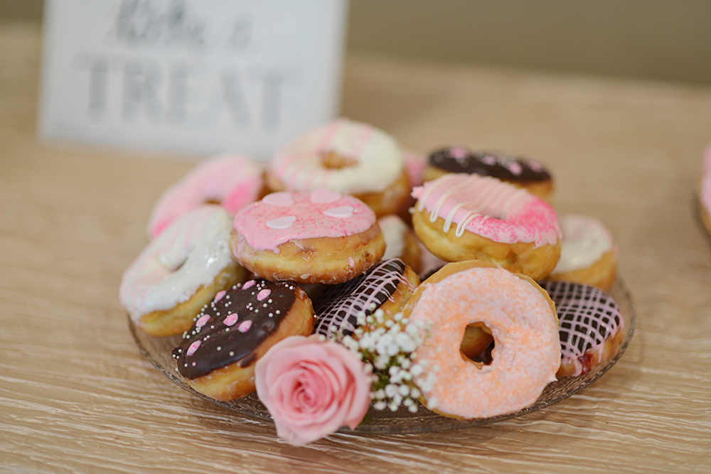 wedding donuts at reception