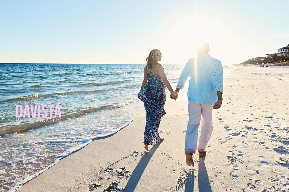 Panama City beach engagement photos on the beach