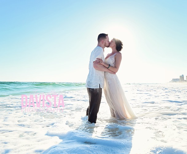 Up on the #blog today: this fabulous couple and their beach wedding! Thanks to @myweddingshop the one stop shop for weddings in the Panama City area. 🖤 link in bio, click blog.