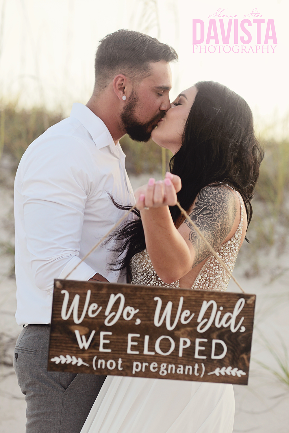 we do we did we eloped not pregnant sign