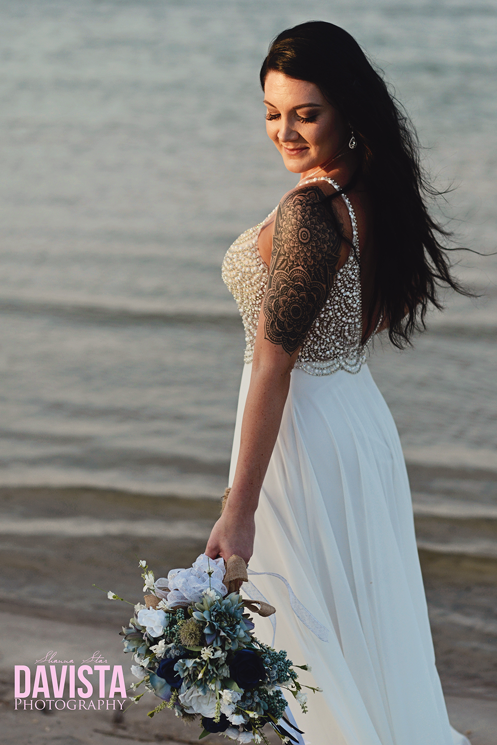 beautiful beach bride Florida