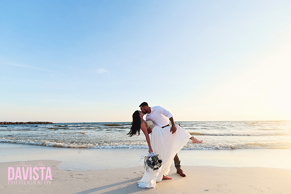 beach wedding Florida- davista photography