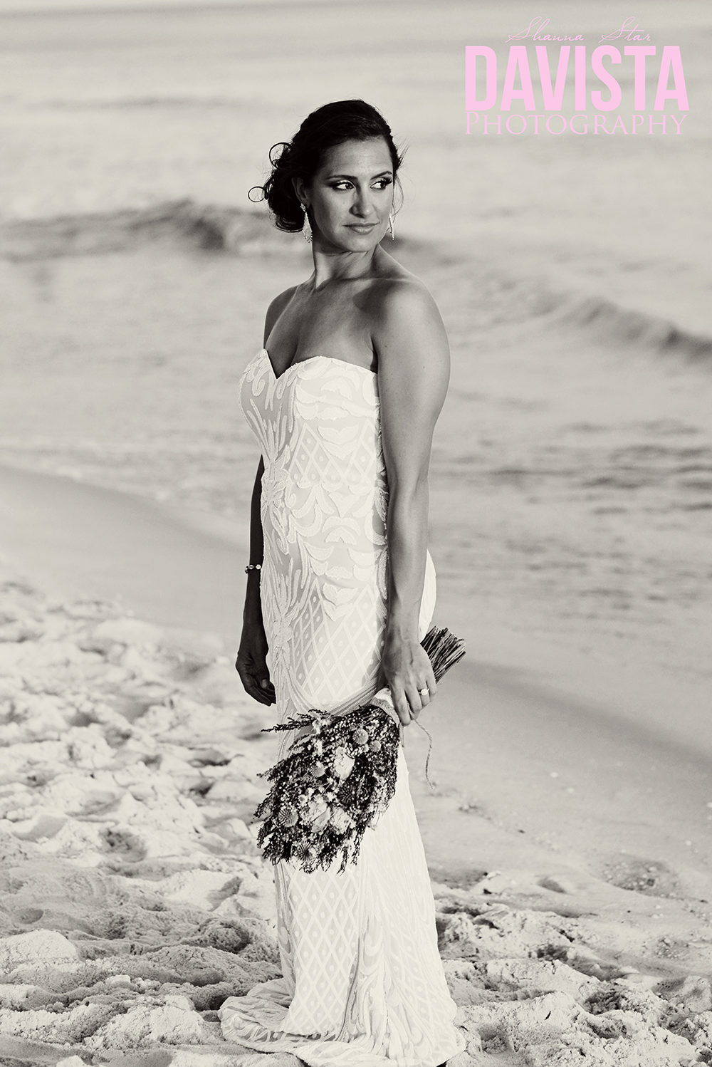 lulus wedding dress on the beach