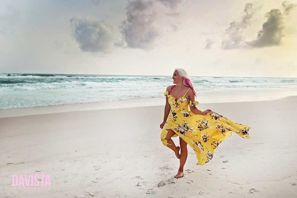 dress on the beach- Panama City beach photographer