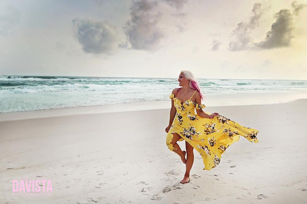 dress on the beach- Panama City beach photographer