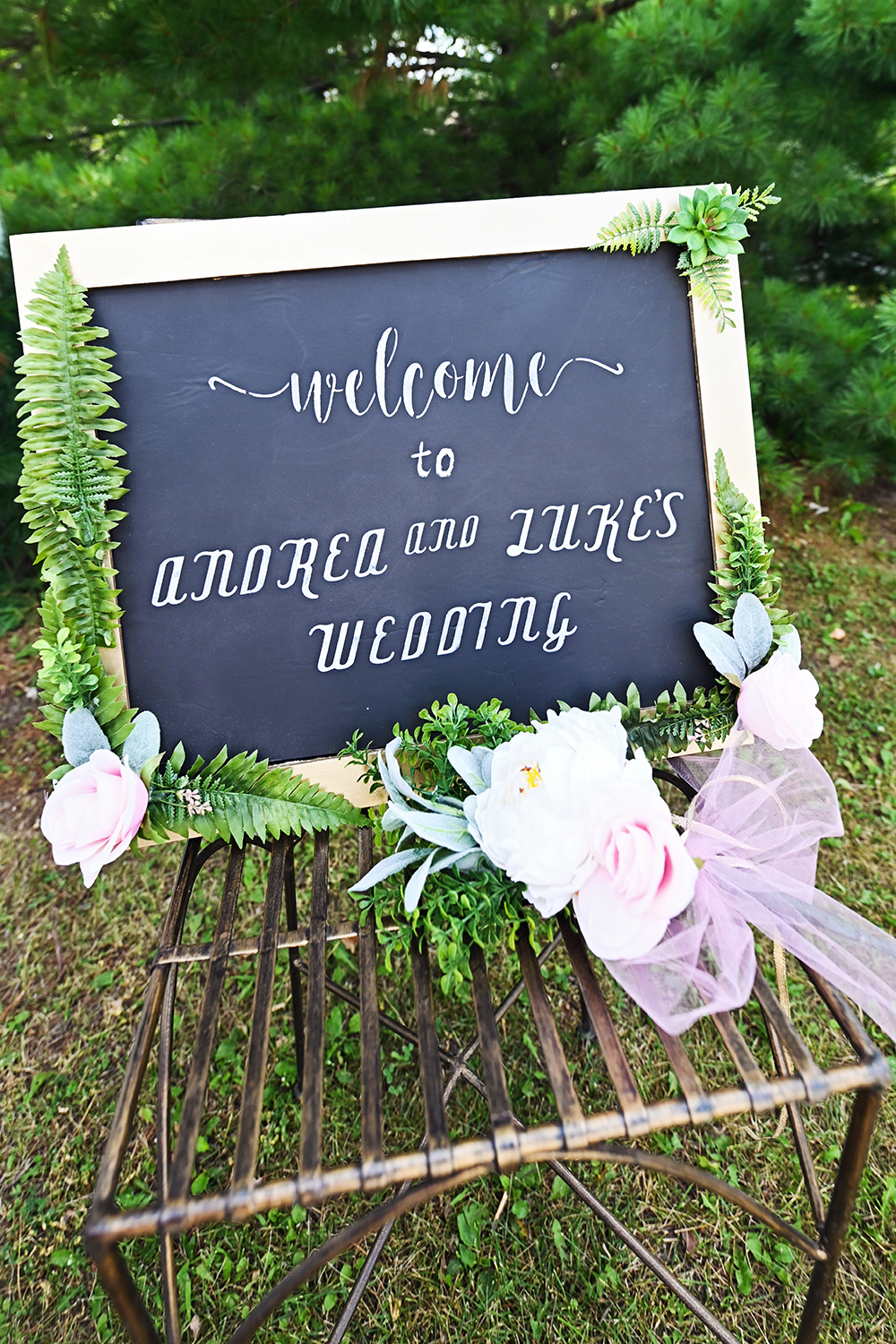 welcome wedding sign rochester