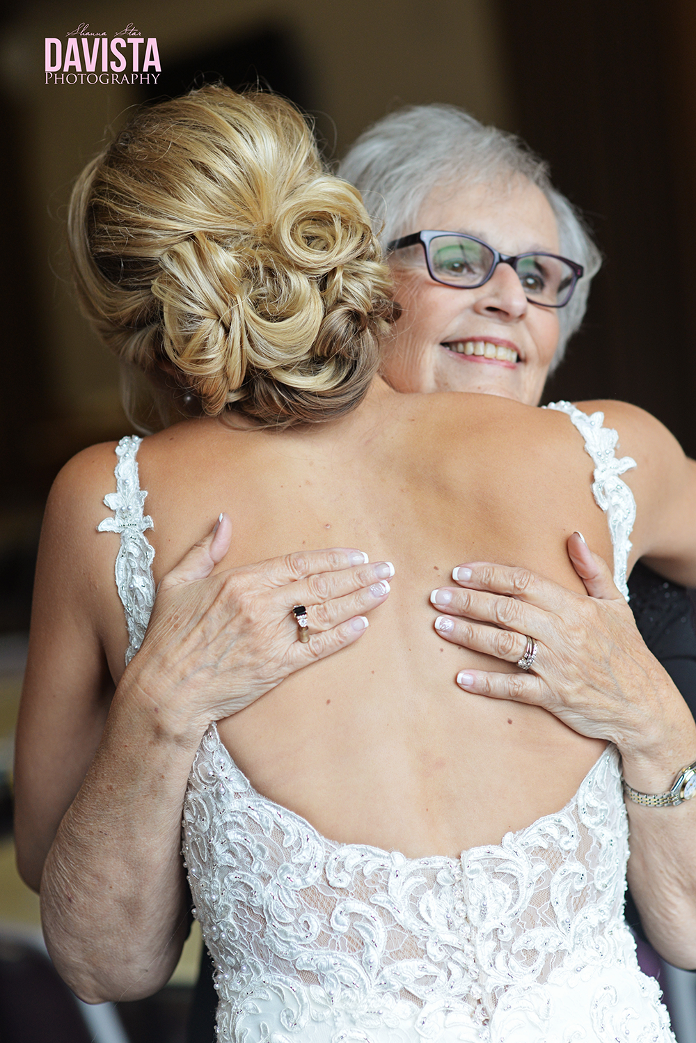 bride and grandmother