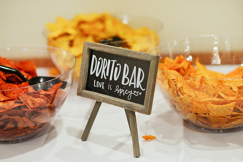 dorito bar for a wedding