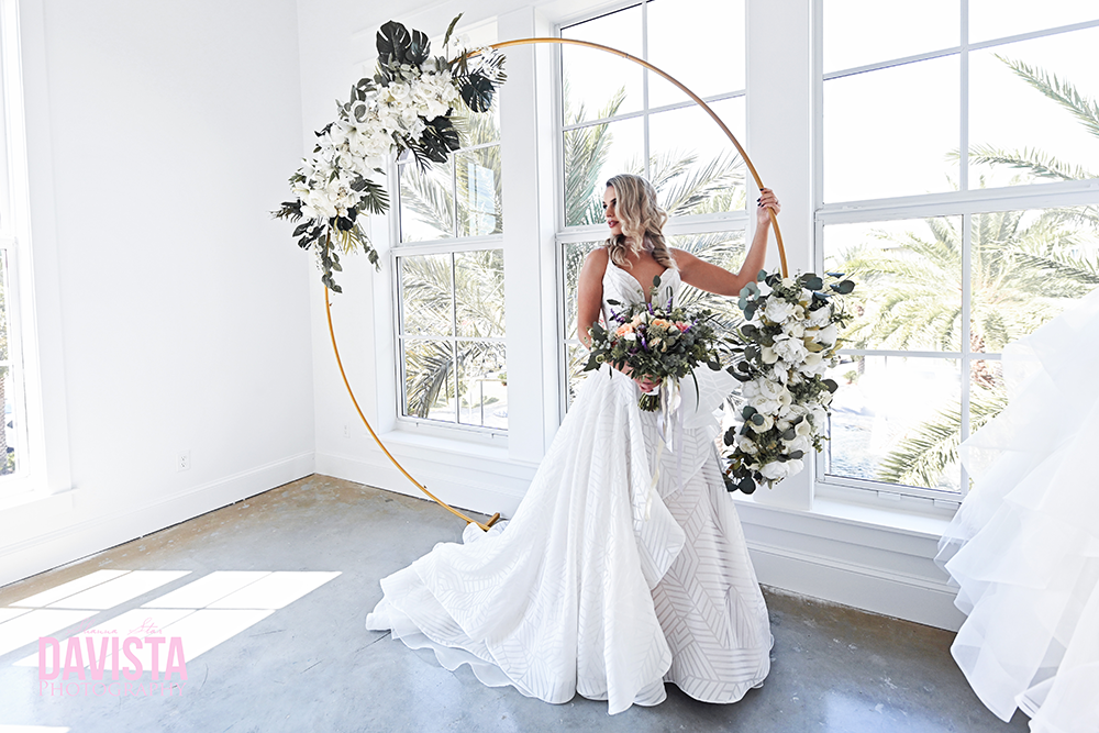 wedding mooongate arch styled shoot in 30a florida