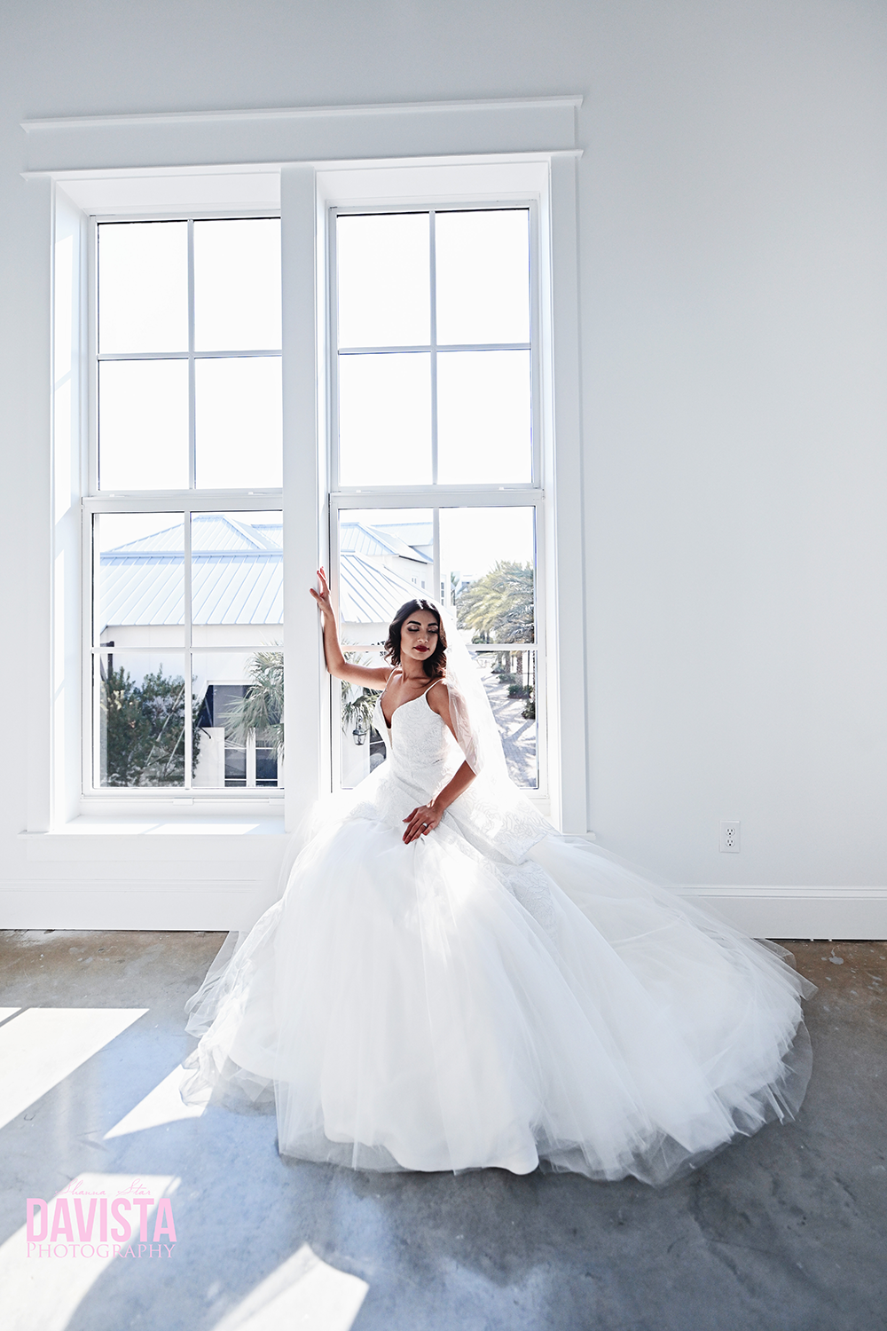 gorgeous panama city beach bride