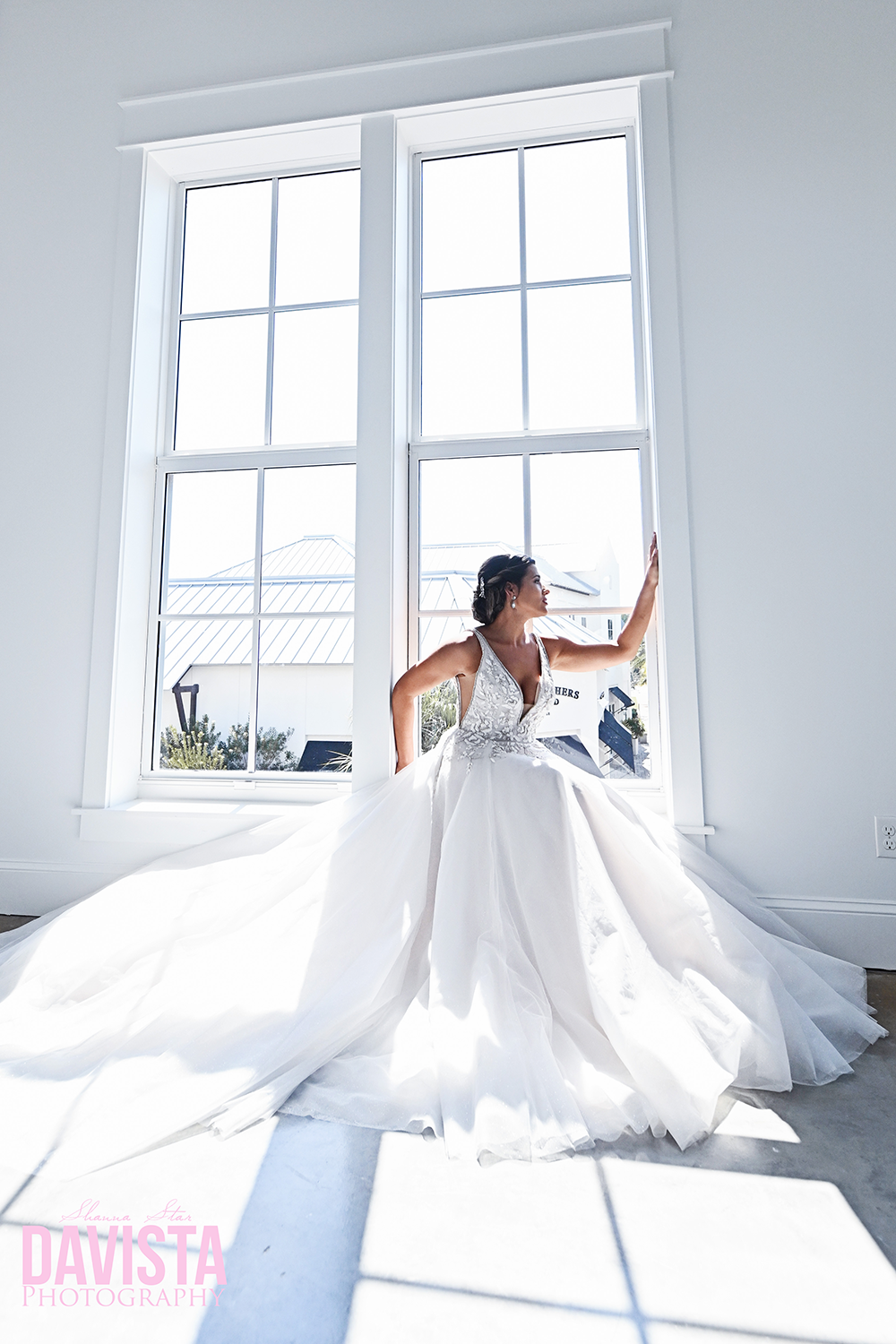 bridal portraits florida princess dress wedding