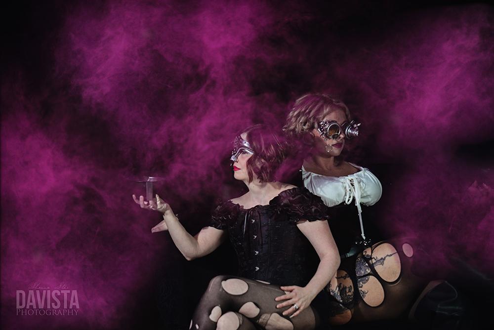 colorbomb steampunk salon halloween photoshoot