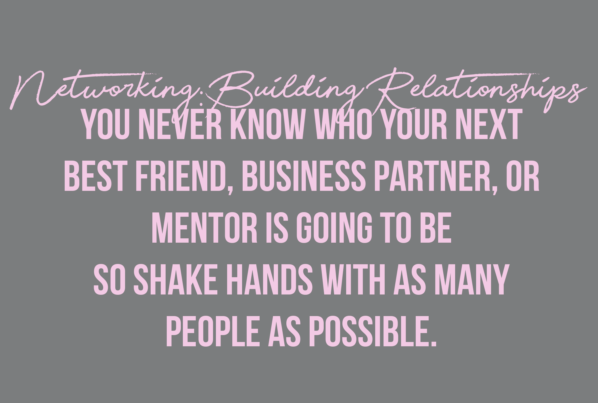 networking:building relationships for business
