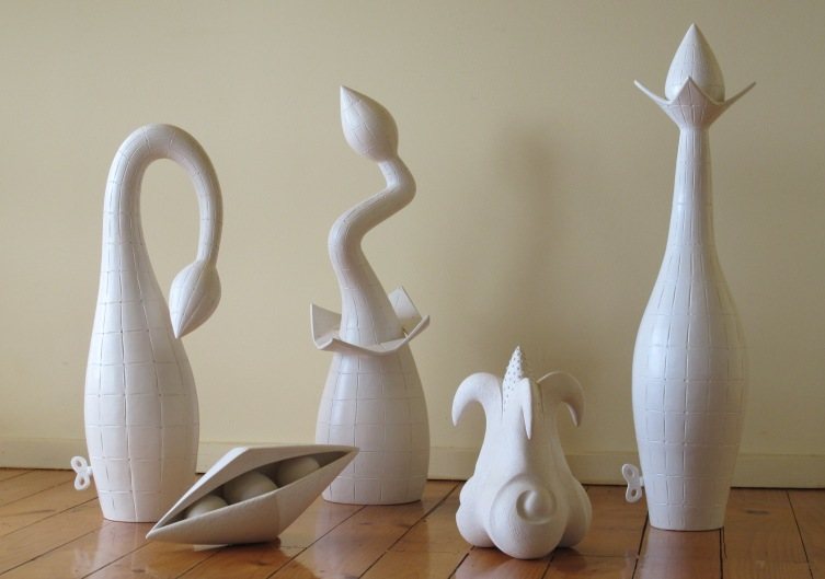 Growth Series.  Ceramic.  Largest 91 cm Height.