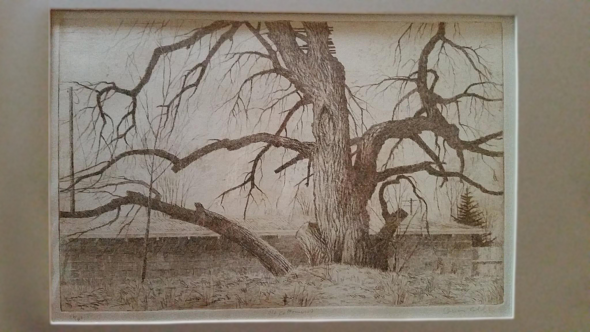 Original etching by Brian Cobble