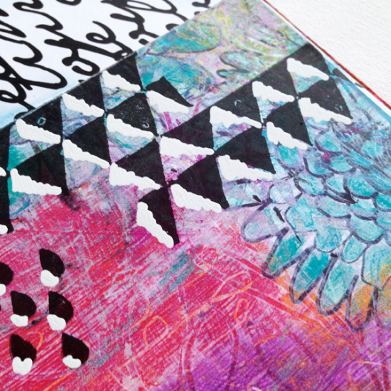 art journaling challenge with Rae