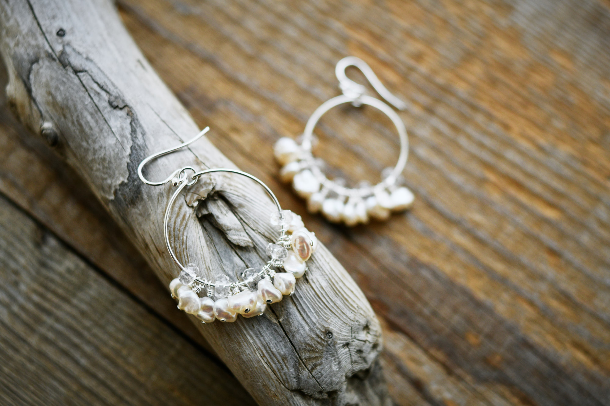 Fresh Water Keshi Pearl earrings